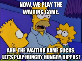 Simpsons Now We Play the Waiting Game